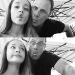 سلفی زیبای آریانا گرانده (خواننده جوان آمریکایی ) و پدر خوشتیپش