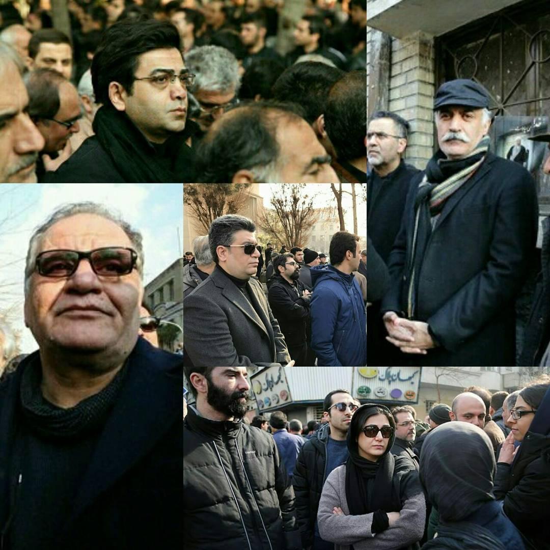 هنرمندان و سینماگران مشهور در مراسم تشییع آیتالله رفسنجانی/از باران کوثری تا فرزاد حسنی+تصاویر