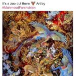 بریتنی اسپیرز در اقدامی جالب اثر استاد محمود فرشچیان را منتشر کرد! +عکس