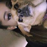 سلفی جدید آریانا گرانده و سگ خوشگلش