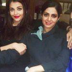 آیشواریا رای در کنار سری دیوی ، بازیگر مشهور هندی
