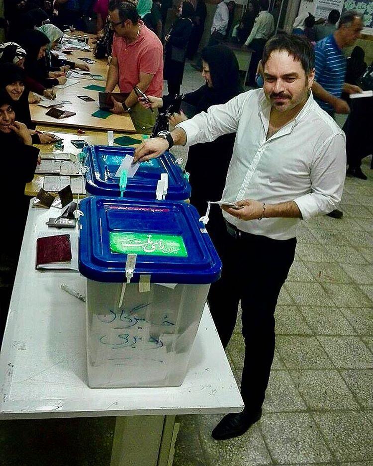 بازیگران پای صندوق های رای 3