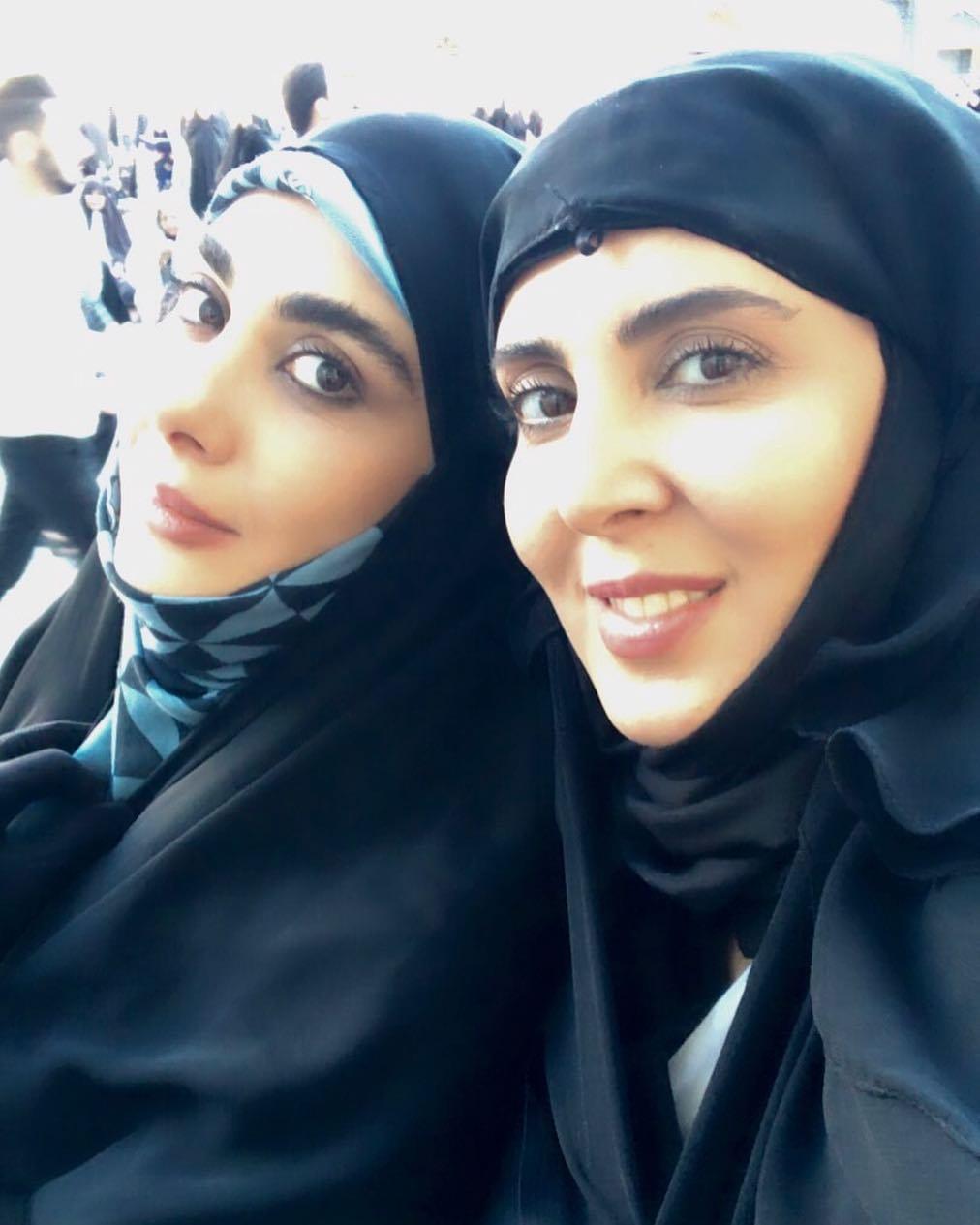 عکس با حجاب لیلا بلوکات