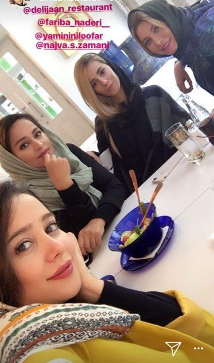 الناز حبیبی در رستوران فریبا نادری