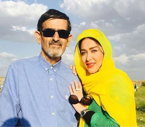 چهره ها احسان خواجه امیری در کنار همسرش بازیگران و چهره های مشهور در کنار پدر و مادرهایشان 123