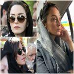 مراسم تشییع پیکر عزت الله انتظامی   از هدیه تهرانی تا بهنوش طباطبایی !(۲)
