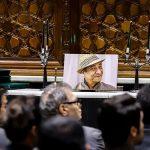 مراسم ترحیم حسین محب اهری با حضور چهره های بسیار مشهور سینما و تلویزیون