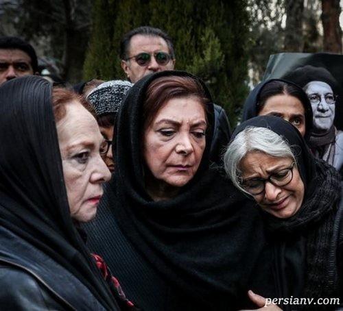 چهره ها در مراسم تشییع پیکر حسین محب اهری   از فرحناز منافی ظاهر تا نگار جواهریان!