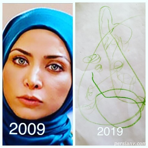 چالش عکس ده سال پیش هنرمندان
