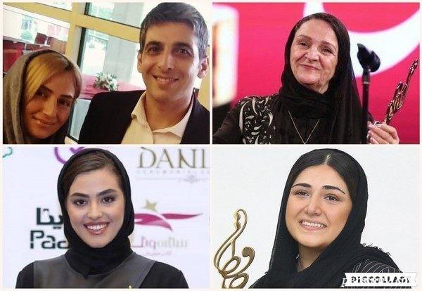 جشن حافظ ۹۸ | از همسر دوم حمید گودرزی تا تقدیر گلاب از همسرش مهدی هاشمی!