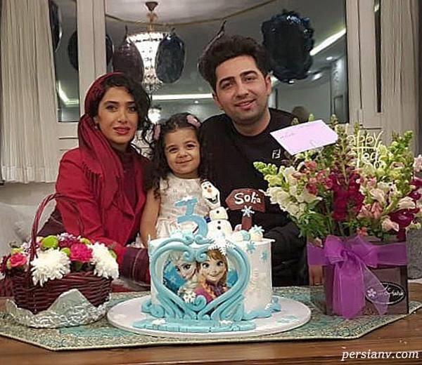 علی سخنگو و همسرش در تولد دختر منوچهر هادی