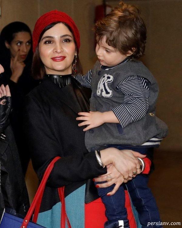 نورا هاشمی و فرزندش