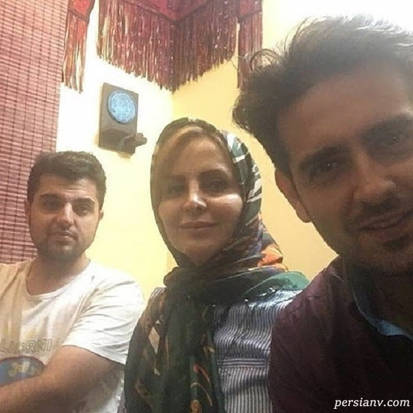 امیرحسین آرمان و مادر و برادرش