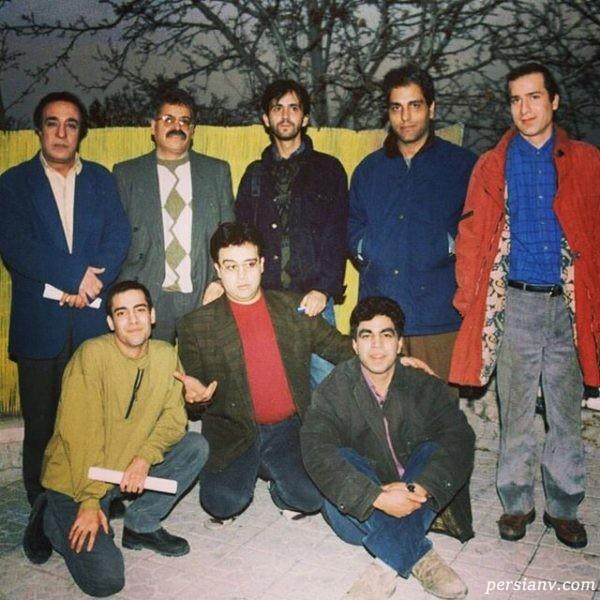 علی ابوالحسنی با مهران مدیری و همکلاسی هایش