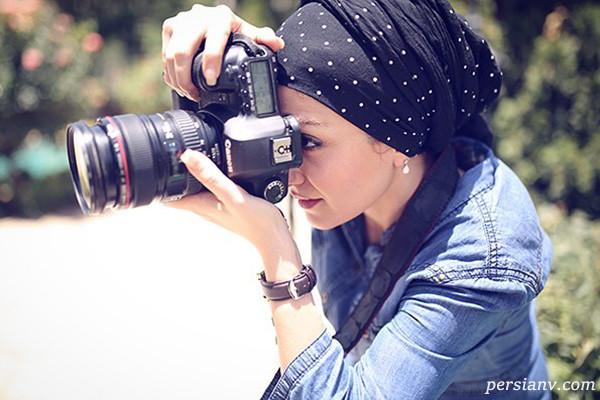 علاقه بیتا سحرخیز به عکاسی