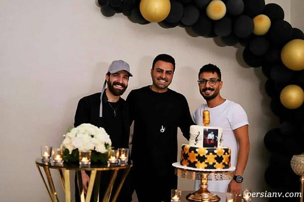 حمید هیراد در تولد خواننده جوان
