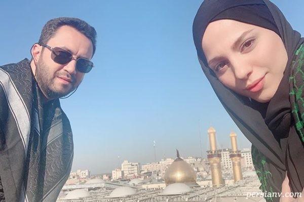 محیا و همسرش