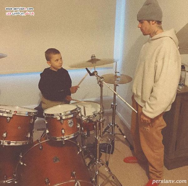 جاستین بیبر و برادرش