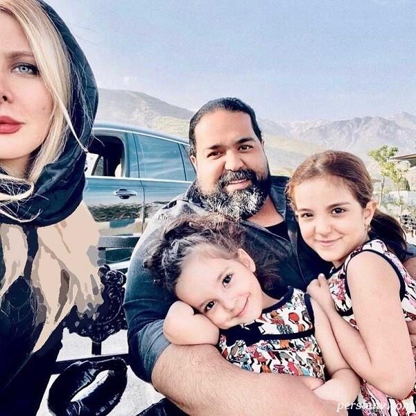 رضا صادقی و همسر و فرزند