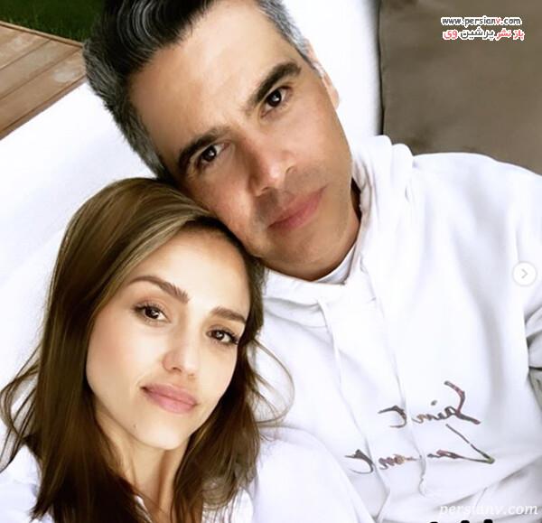 جسیکا آلبا و همسرش کش وارن
