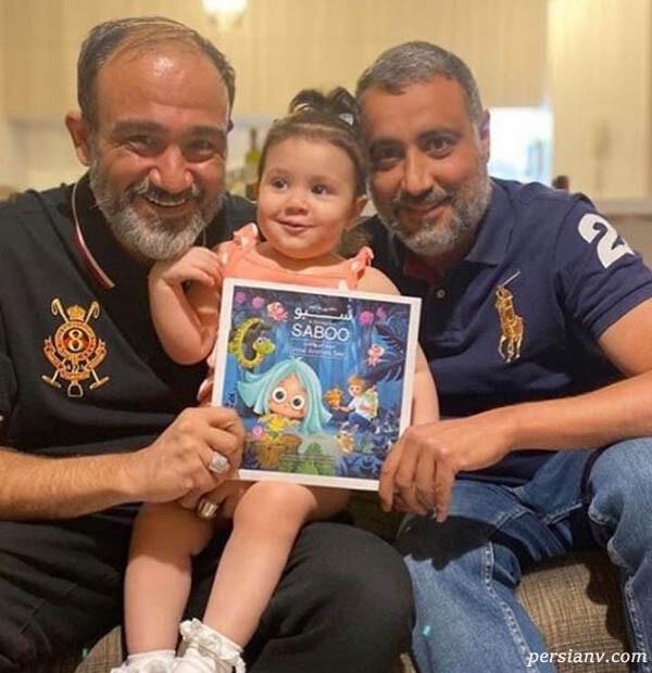 مهران غفوریان و دخترش