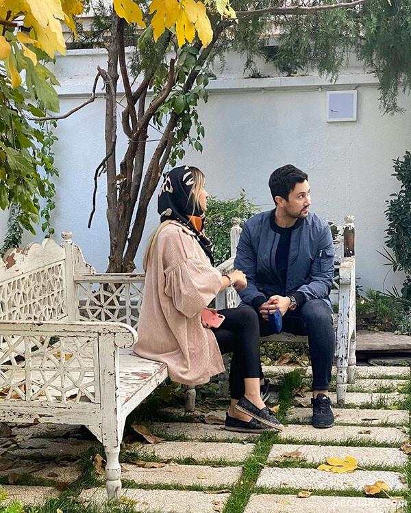 شاهرخ استخری با همسر