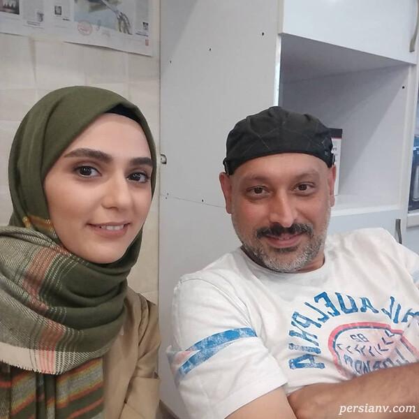 روژین رحیمی طهرانی با احمد معظمی کارگردان خانه امن