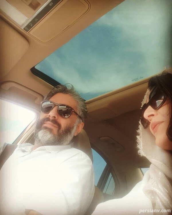 ساره بیات و همسرش