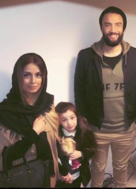 بنیامین بهادری در کنار همسر و دخترش در پشت صحنه «پک» +عکس