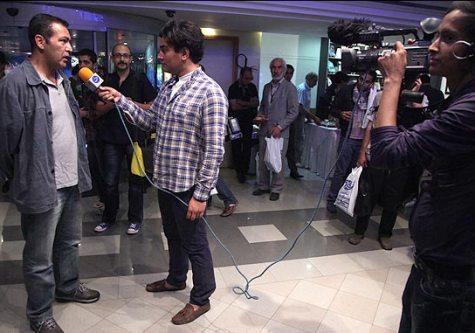 فریبرز عربنیا در حاشیه یک جشنواره / عکس