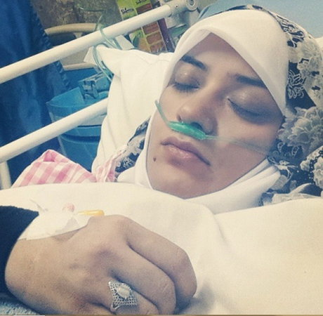 الهام چرخنده روی تخت بیمارستان + عکس وی و دلنوشته فرزندش
