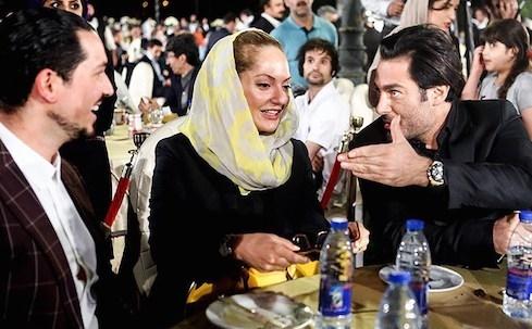 شوهر مهناز افشار با لباس زندان و پای آسیب دیده (مانند همسرش) در راه دادسرا +عکس