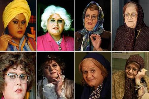 اکبر عبدی در گریم های زنانه و جنجالی اش +عکس