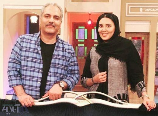 شوخی مهران مدیری با سن لیلا بلوکات در برنامه دورهمی +عکس