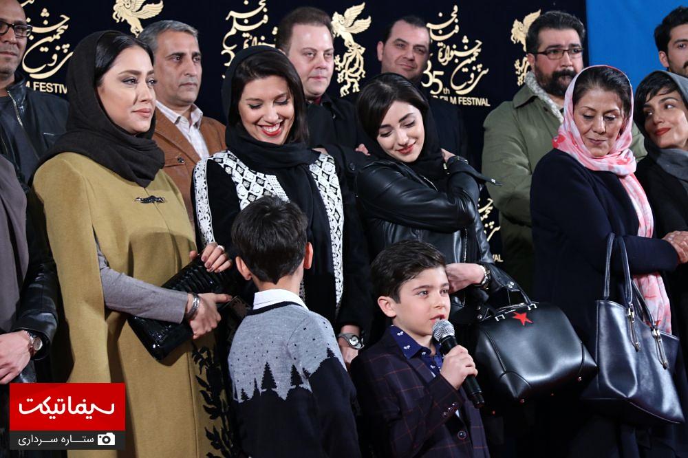 فرش قرمز فیلم کمدی انسانی با حضور بازیگران مشهور در جشنواره فجر| از بهاره کیان افشار تا هستی مهدوی +تصاویر