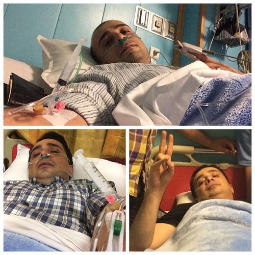 سپند امیر سلیمانی در بستر بیماری + عکس