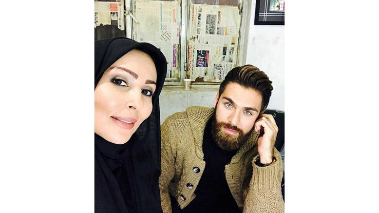 پرستو صالحی همراه با عماد خداداد، سوپراستار جدید و خوش چهره سینمای ایران +عکس