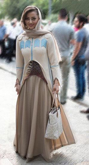 دفاع نفیسه روشن از لباسش در جشن حافظ +عکس