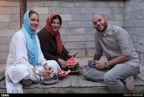 مهناز افشار و بابک حمیدیان در حال خوردن هندوانه + عکس