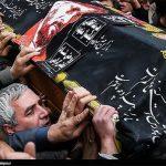 ابراهیم حاتمی کیا زیر تابوت فرج الله سلحشور +عکس