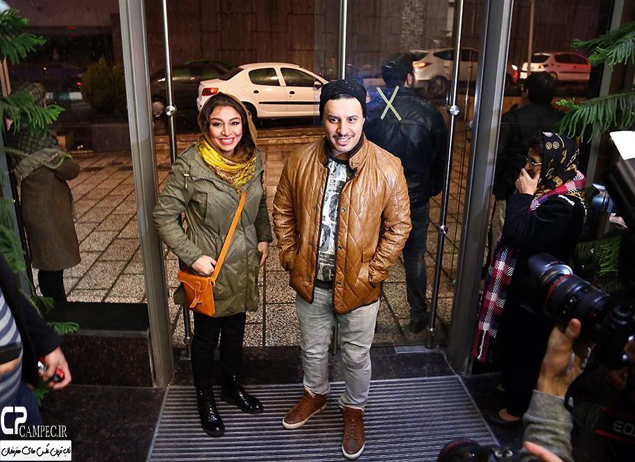 حضور جواد عزتی و همسرش مه لقا باقری در اکران فیلم در مدت معلوم + تصاویر