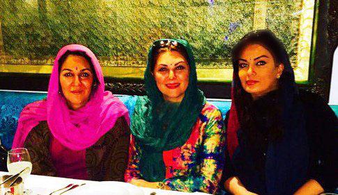 خال هندی بازیگران زن ایرانی با رفتن به رستوران هندی ! + تصاویر