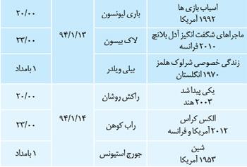 لیست کامل دیدنیهای نوروزی تلویزیون در یک نگاه (قسمت اول) + جدول