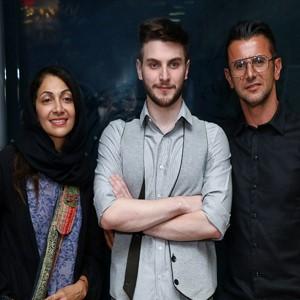 اکران فیلم سینمایی شعله ور با حضور امین حیایی و همسرش نیلوفر و پسرش دارا!