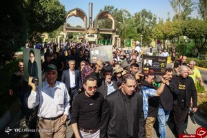 مراسم تشییع پیکر حسین عرفانی با حضور چهره های مشهور