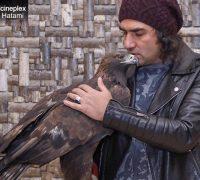 رضا یزدانی و یک عقاب در اکران خصوصی فیلم ماموریت غیرممکن