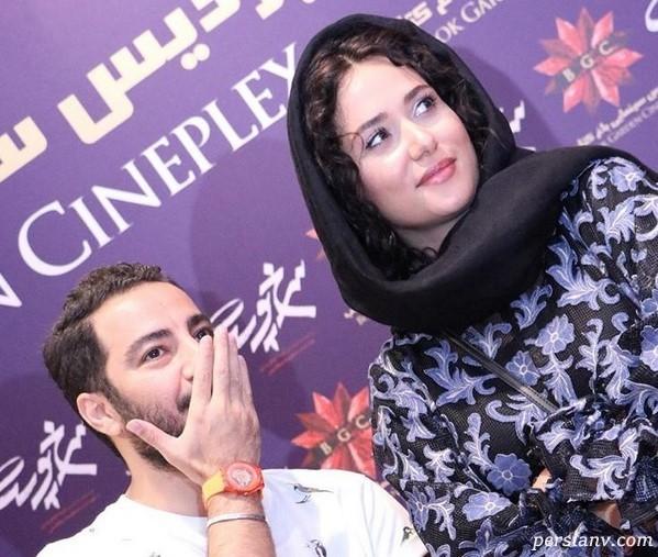 استایل عجیب نوید محمدزاده و پریناز ایزدیار در اکران فیلم سرخپوست