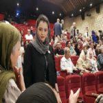 حضور ترانه علیدوستی و علی نصیریان در مراسم اهدای نشان داوود رشیدی