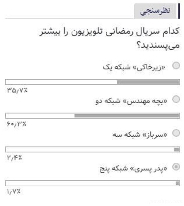 سریال های رمضان 99