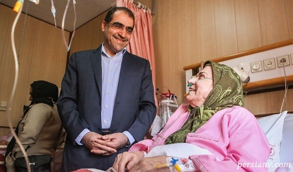 عیادت وزیر بهداشت از خانم بازیگر